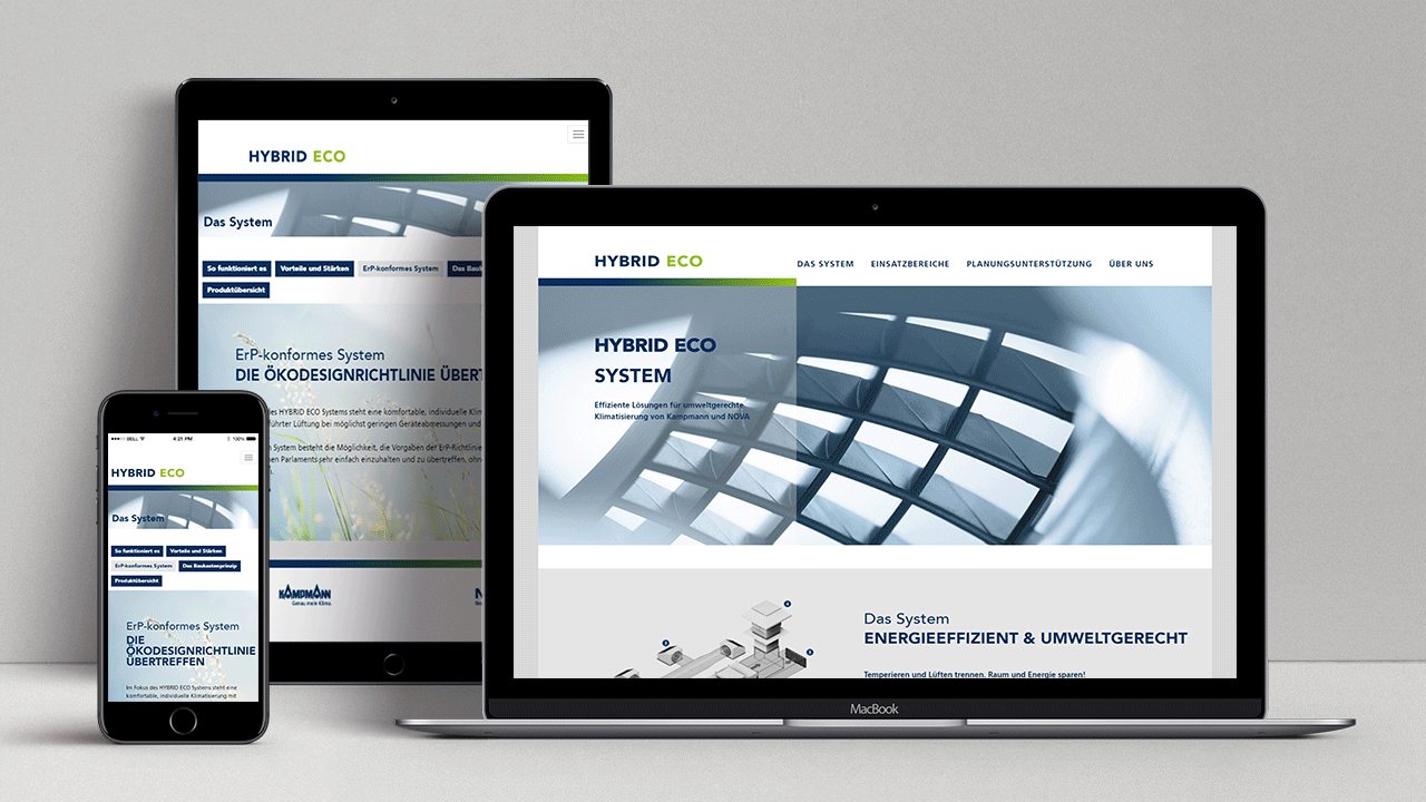 Agentur für B2B Marketing - Kampmann Hybrid Eco Responsive Website